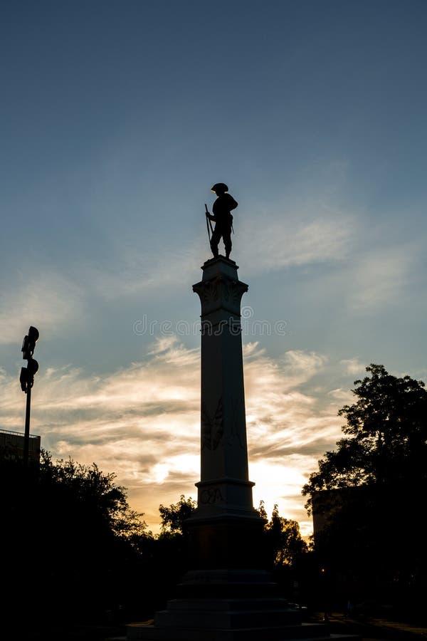 Monumento de Texas Brigade da capa fotografia de stock