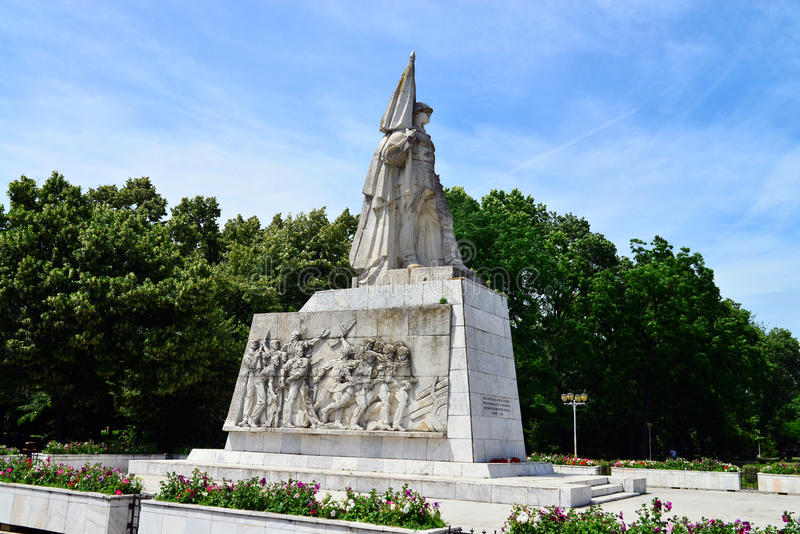 Monumento de Timisoara del soldado rumano foto de archivo
