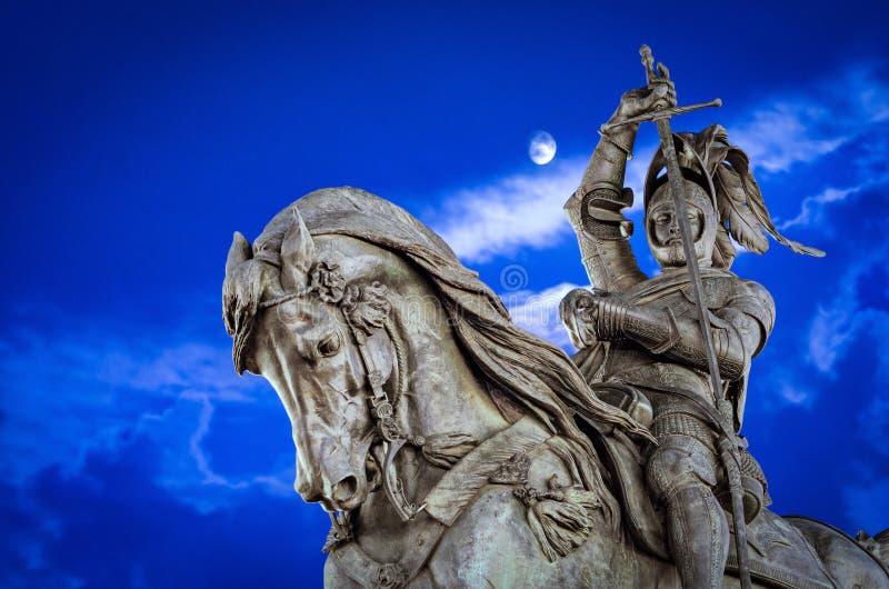 Monumento de Turin Torino a Emanuele Filiberto Piazza San Carlo foto de stock