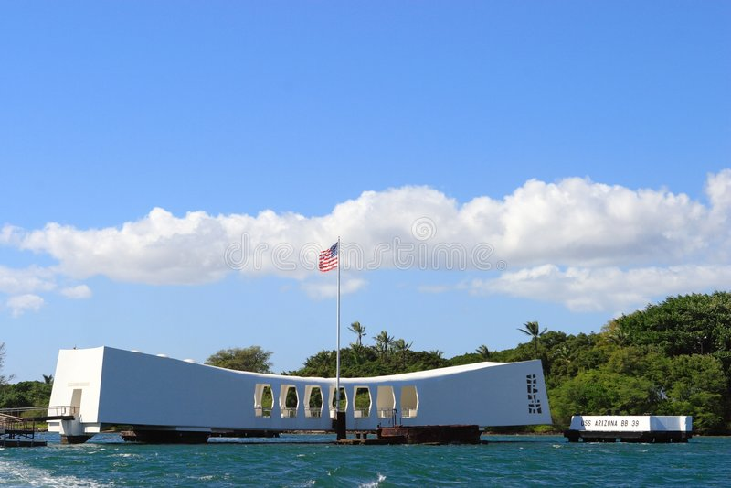 Monumento de USS Arizona fotografía de archivo