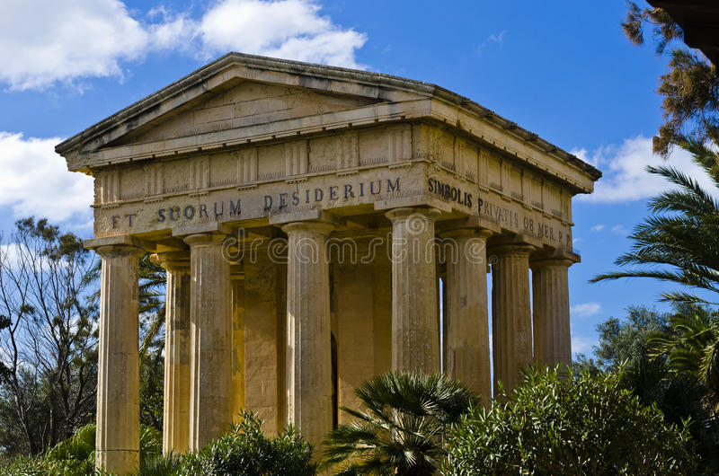 Monumento de Valletta, Malta fotografia de stock