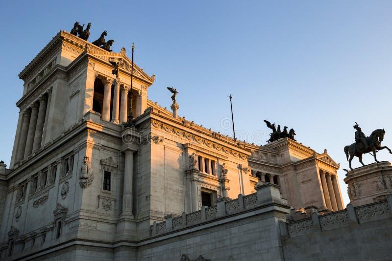 Monumento de Victor Emmanuel: Della Patria de Altare, nazista de Monumento fotos de stock