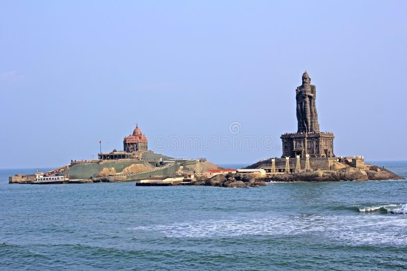 Monumento de Vivekananda del Swami imagenes de archivo