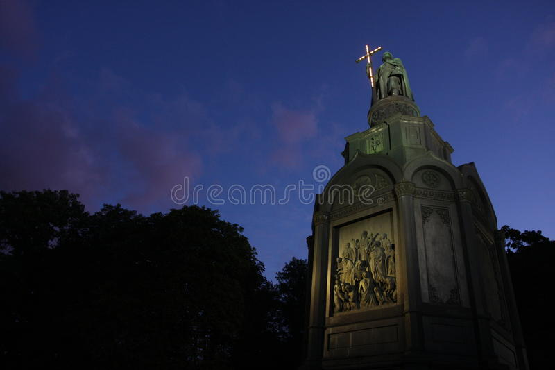 Monumento de Vladinir o grande fotos de stock royalty free