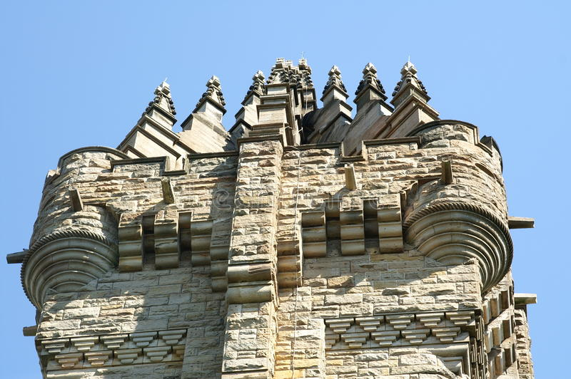 Monumento de Wallace, Stirling fotografia de stock