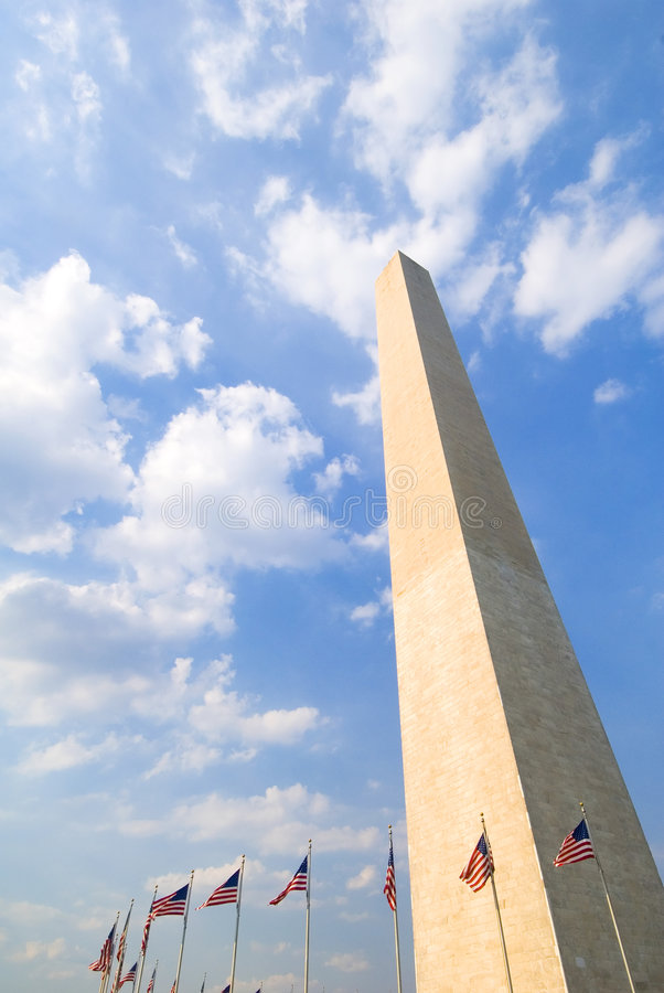 Monumento de Washington, C.C. imagens de stock
