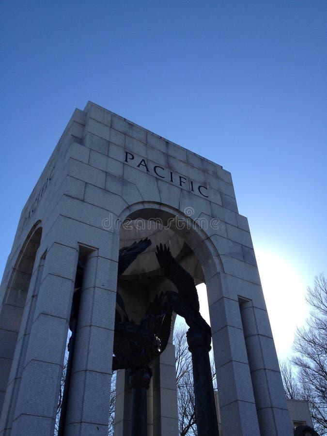 Monumento de WWII, frente pacífico fotografía de archivo