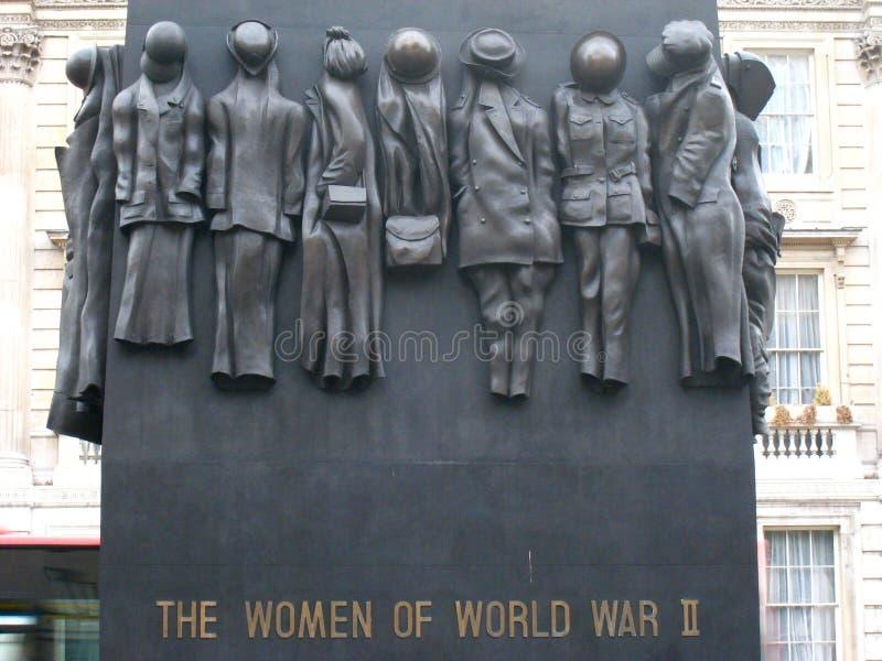 Monumento de WWII a las mujeres fotografía de archivo libre de regalías