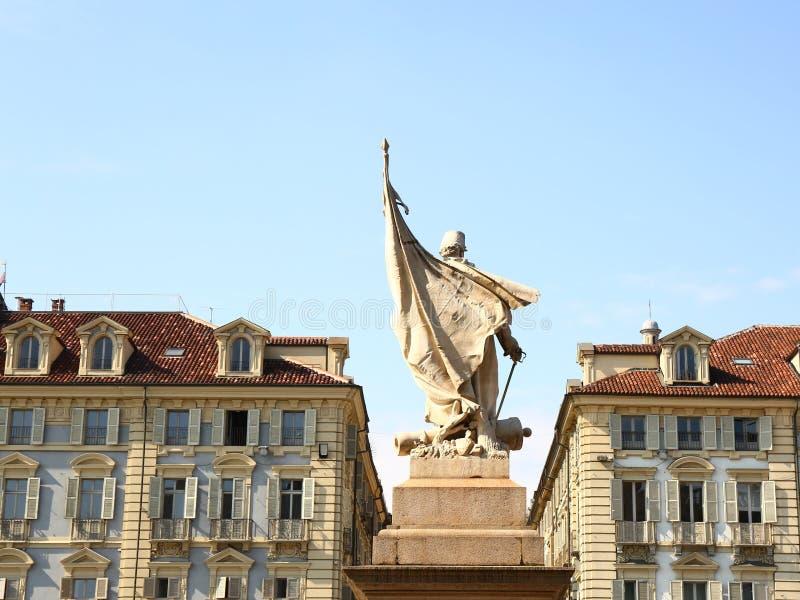 Monumento dedicado às tropas sardos, quadrado real, Turin fotografia de stock