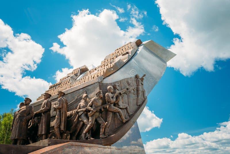 Monumento dedicato ai partecipanti bielorussi immagine stock libera da diritti