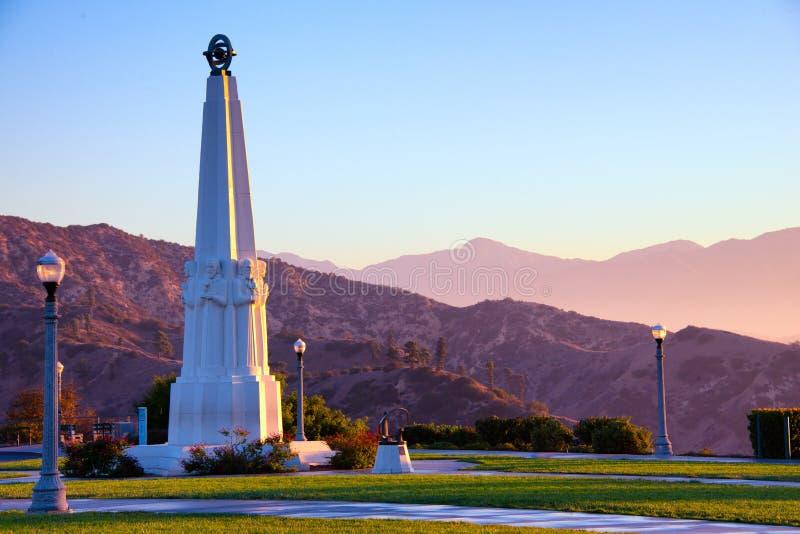 Monumento degli astronomi in Griffith Park immagini stock libere da diritti