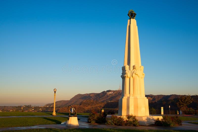 Monumento degli astronomi in Griffith Park immagini stock