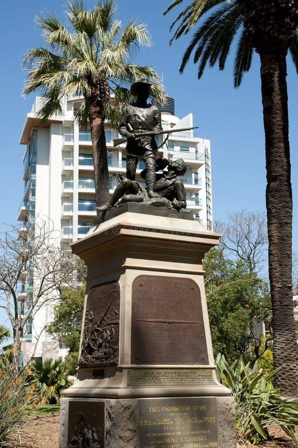Monumento dei soldati - Perth - Australia fotografia stock