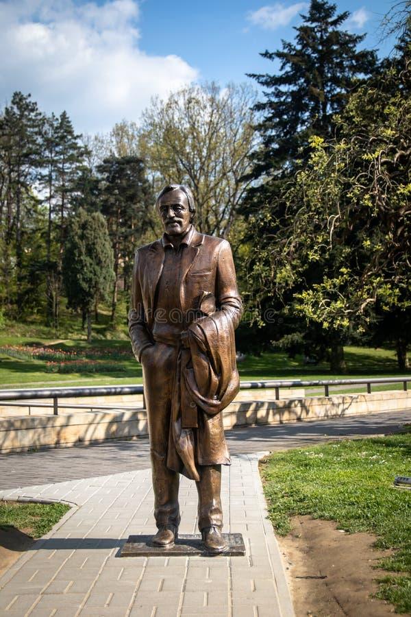 Monumento del actor serbio popular Dragan Nikolic fotos de archivo libres de regalías
