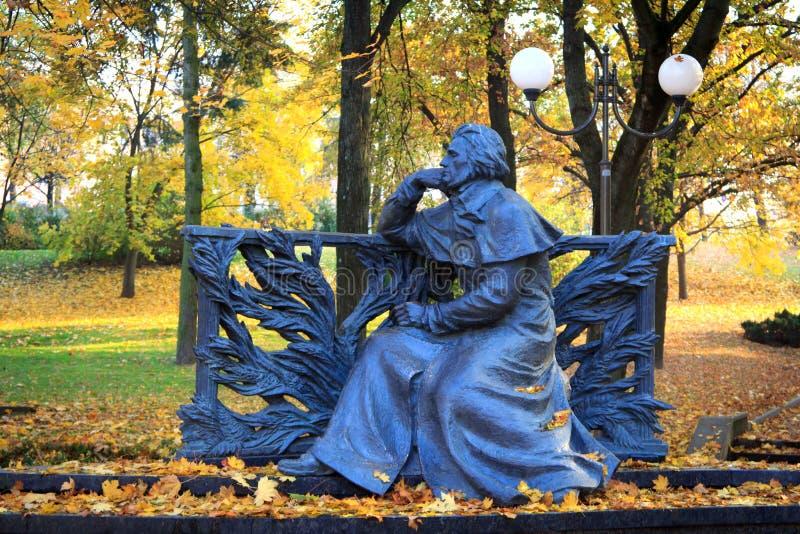 Monumento del Adam Mickiewicz immagini stock libere da diritti