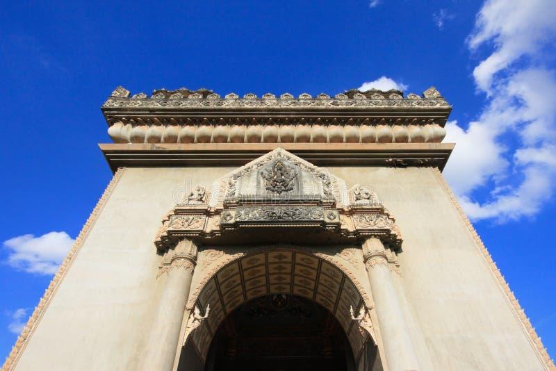 Monumento del arco de Patuxai en Laos Vientián fotos de archivo