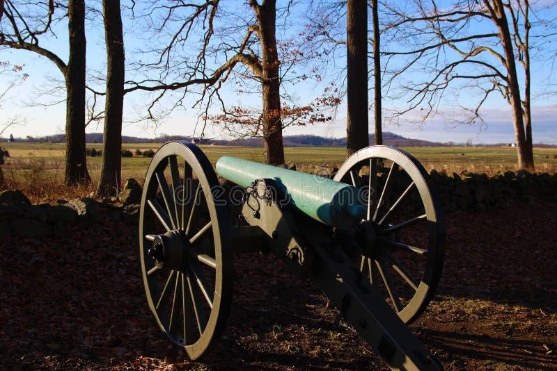 Monumento del cañón de Gettysburg fotografía de archivo