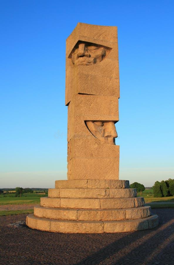 Monumento del campo di battaglia in Grunwald, Polonia fotografia stock libera da diritti