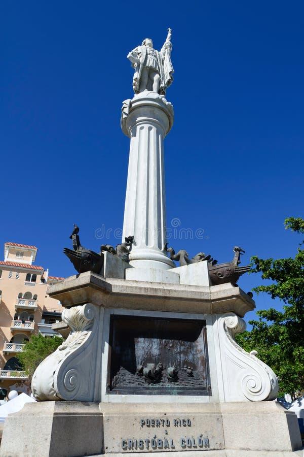 Monumento del Christopher Columbus fotografia stock