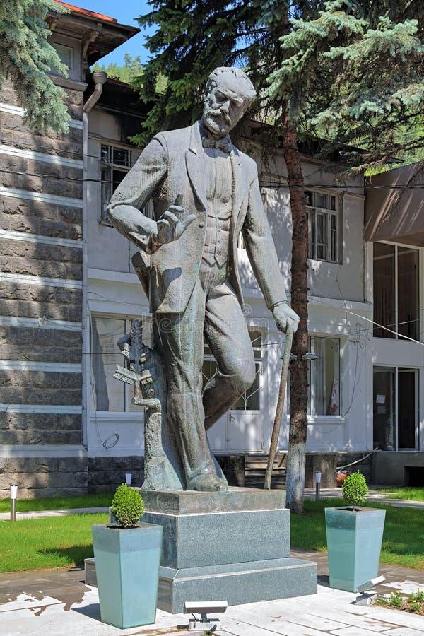 Monumento del compositore Pyotr Tchaikovsky in Borjomi, Georgia fotografie stock