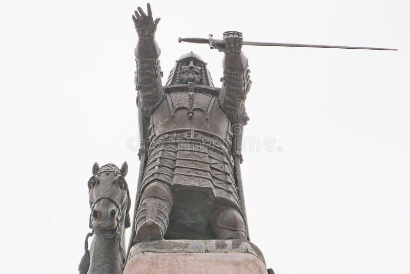 Monumento del duque de Lituania imagen de archivo libre de regalías