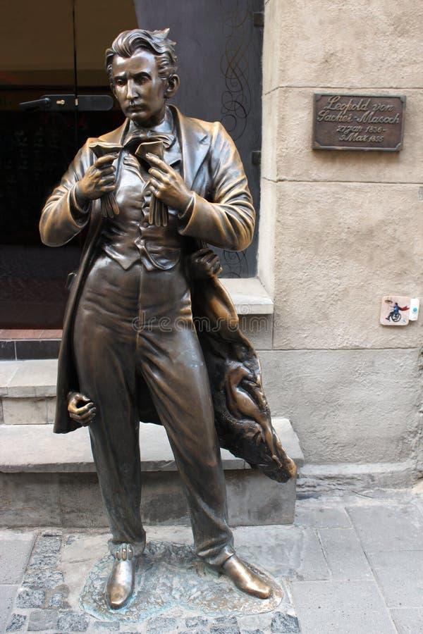 Monumento del fundador del masoquismo von Sacher-Masoch imagen de archivo libre de regalías