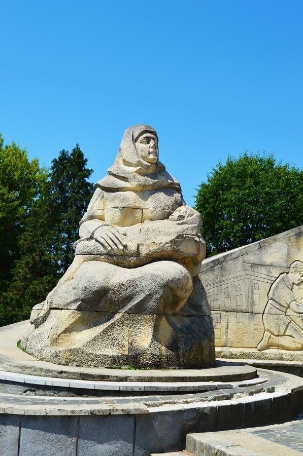 Monumento del guerrero, Rumania fotografía de archivo