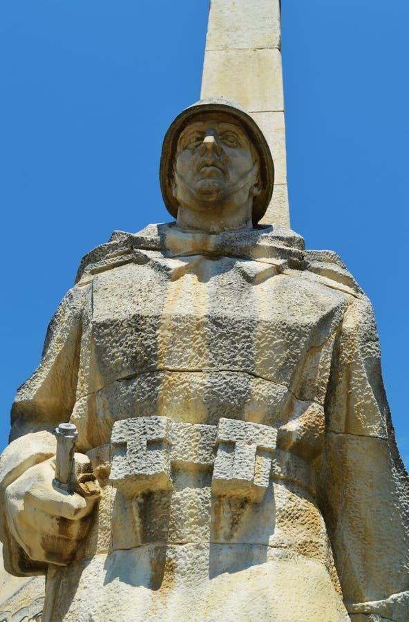 Monumento del guerrero, yegua de Baia, Rumania fotografía de archivo