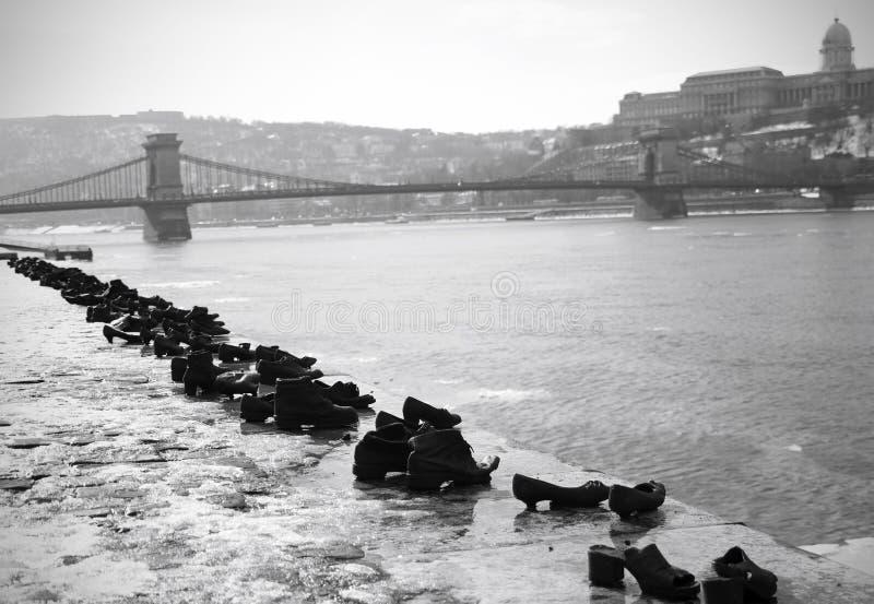 Monumento del holocausto de Budapest imagen de archivo
