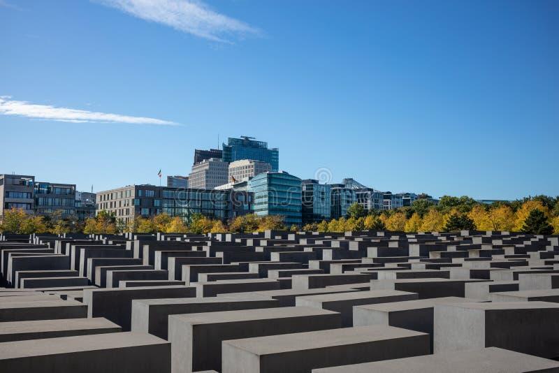 MONUMENTO del HOLOCAUSTO en Berlín, Alemania E fotos de archivo