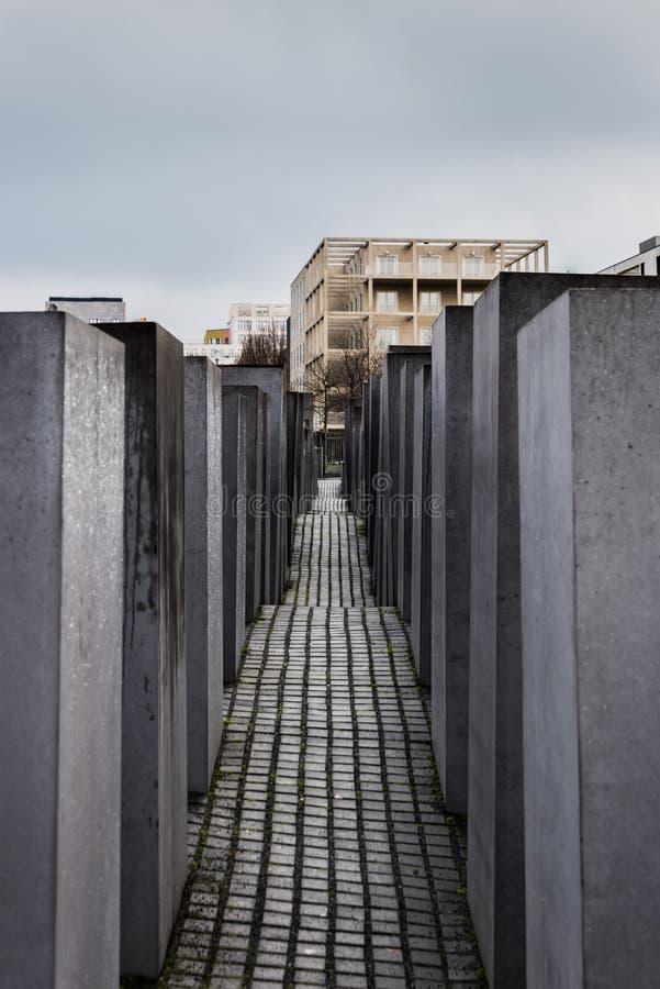 Monumento del holocausto a los judíos asesinados de Europa, Berlín, Alemania foto de archivo libre de regalías
