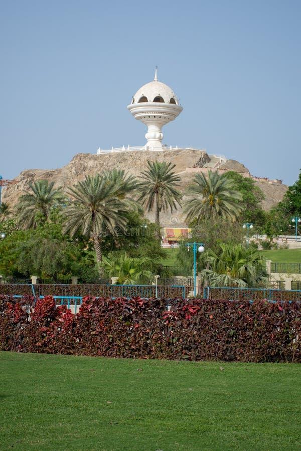 Monumento del incienso en Muscat, Omán fotografía de archivo