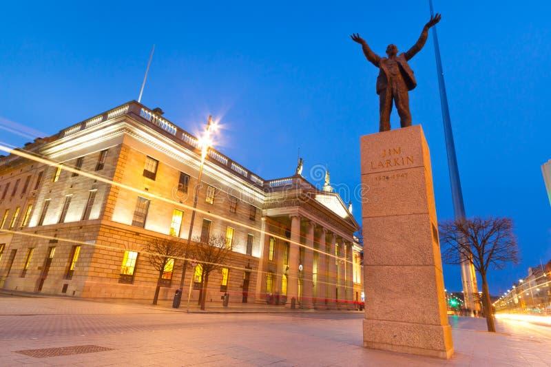 Monumento del Jim Larkin a Dublino fotografia stock libera da diritti
