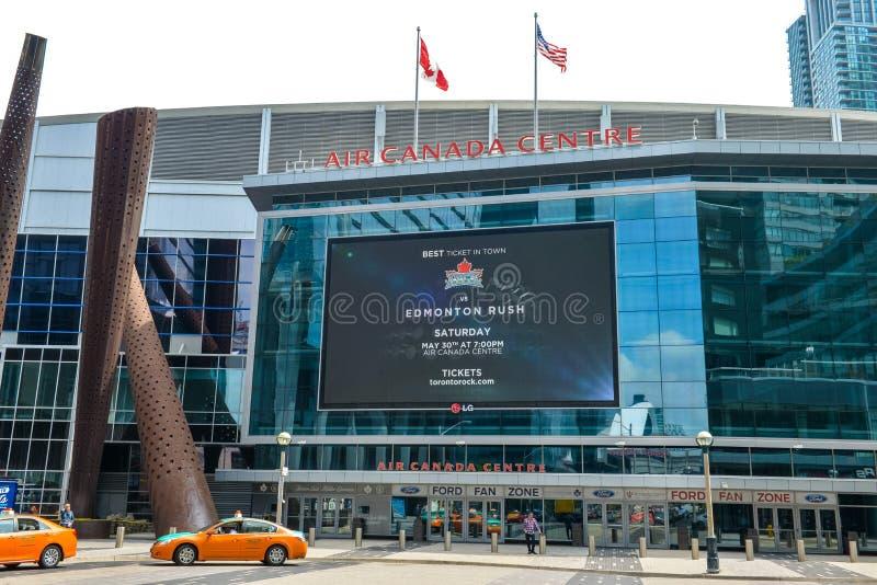 Monumento del jugador de hockey en Toronto fotos de archivo libres de regalías