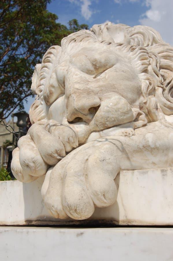 Monumento del león en un d3ia imagen de archivo