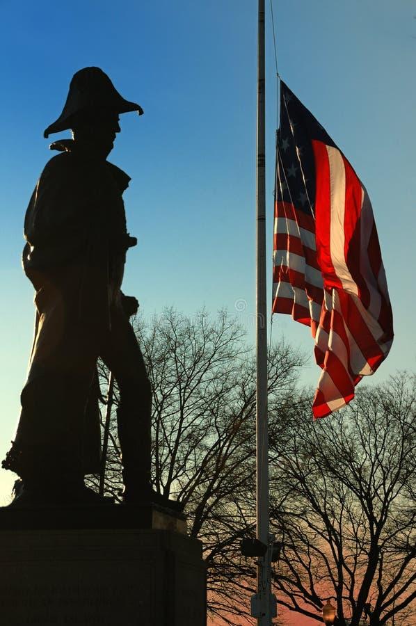 Monumento del maggiordomo del Benjamin Franklin, collina federale, Baltimora fotografia stock