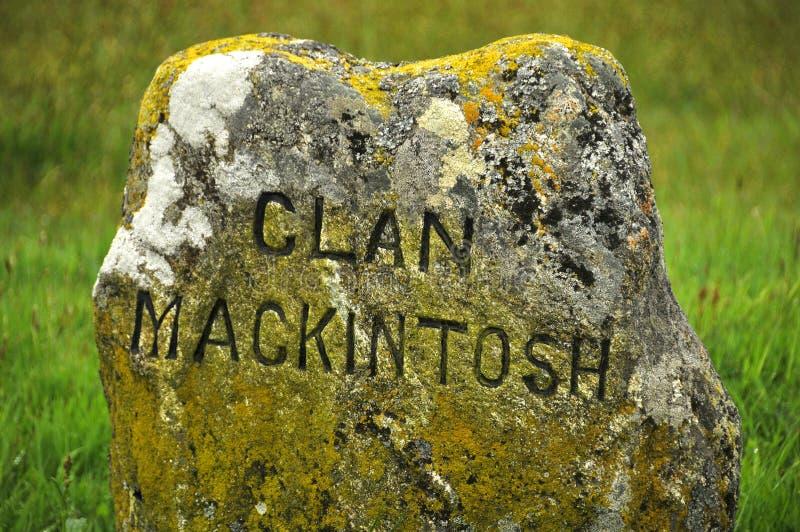Monumento del memoriale del campo di battaglia di Culloden immagini stock libere da diritti