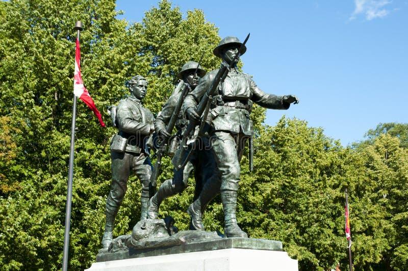 Monumento del memoriale di guerra - Charlottetown - Canada fotografia stock libera da diritti