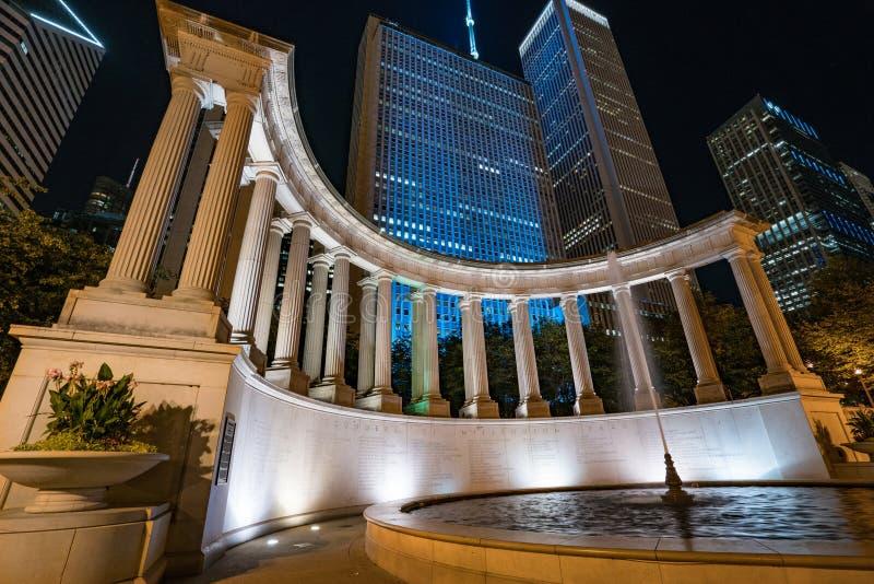 Monumento del milenio, Chicago, Illinois imagen de archivo
