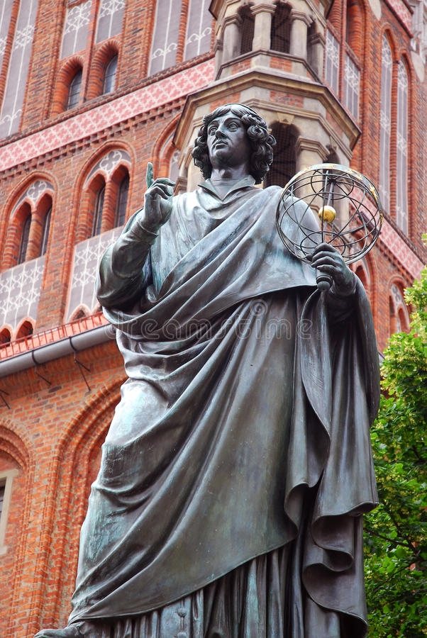 Monumento del Nicolaus Copernicus a Torum fotografie stock