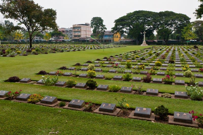 Monumento del paso del Hellfire en Tailandia imagenes de archivo