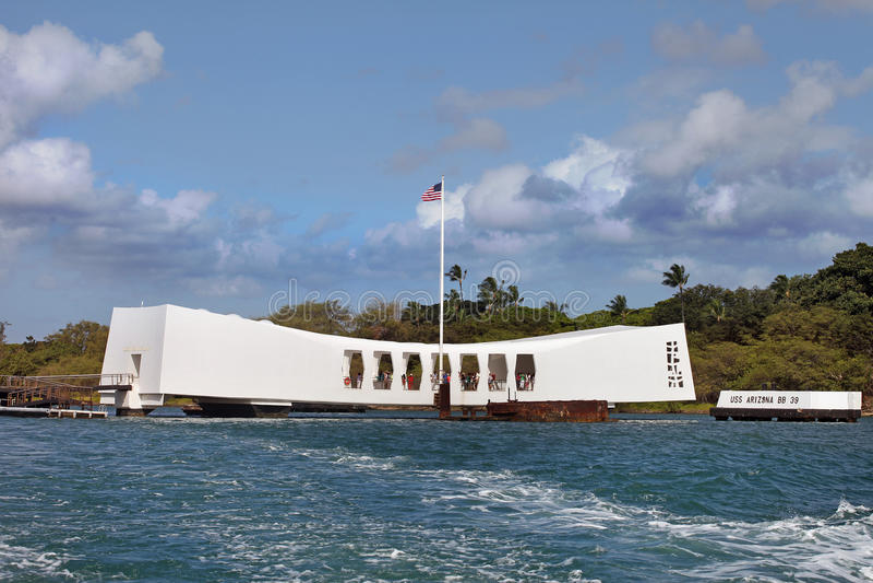 Monumento del Pearl Harbor imágenes de archivo libres de regalías