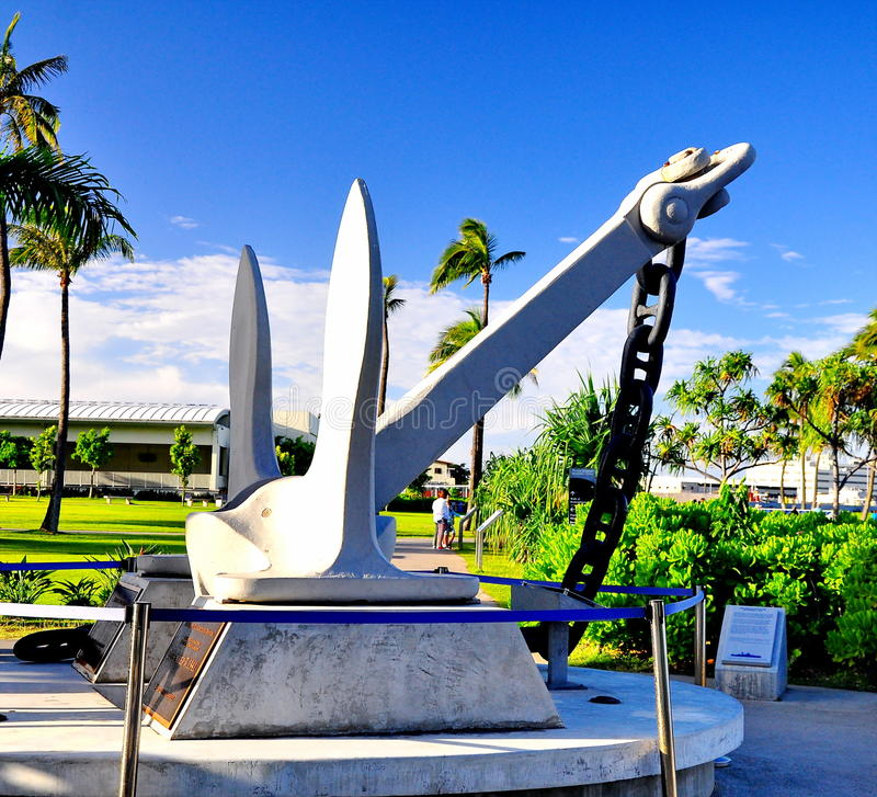 Monumento del Pearl Harbor foto de archivo