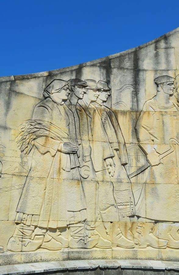 Monumento del soldado, detalle, yegua de Baia, Rumania imagenes de archivo