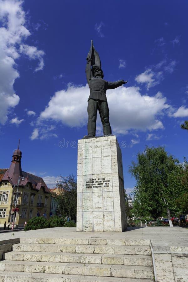 Monumento del soldado rumano desconocido, Targu Mures, Rumania imágenes de archivo libres de regalías