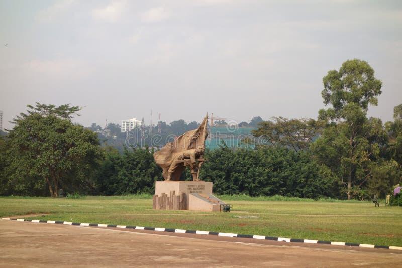 Monumento del soldato sconosciuto a Kampala immagini stock libere da diritti