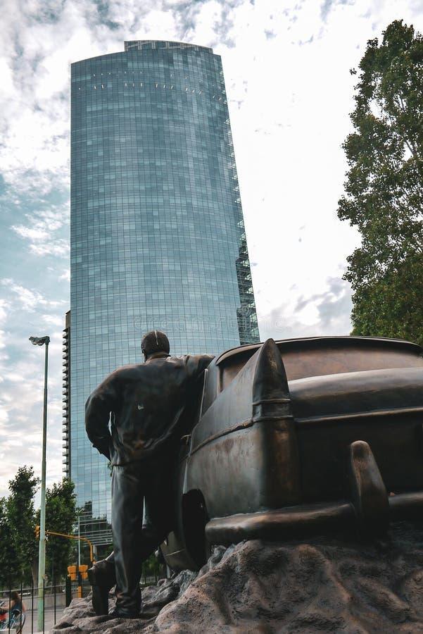 Monumento del taxi en Buenos Aires imágenes de archivo libres de regalías