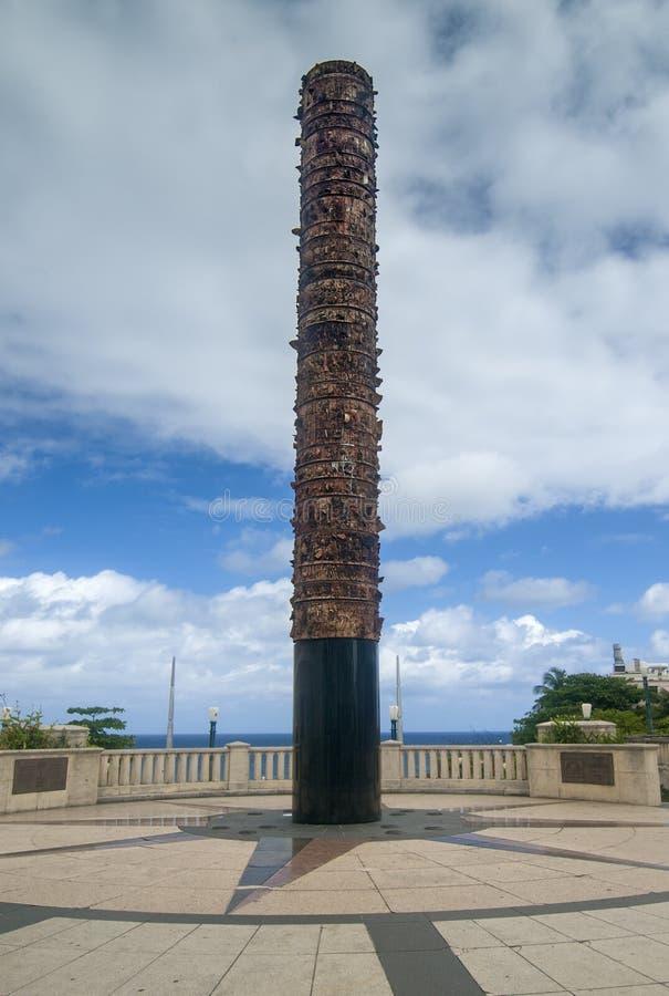 Monumento del totem fotografie stock