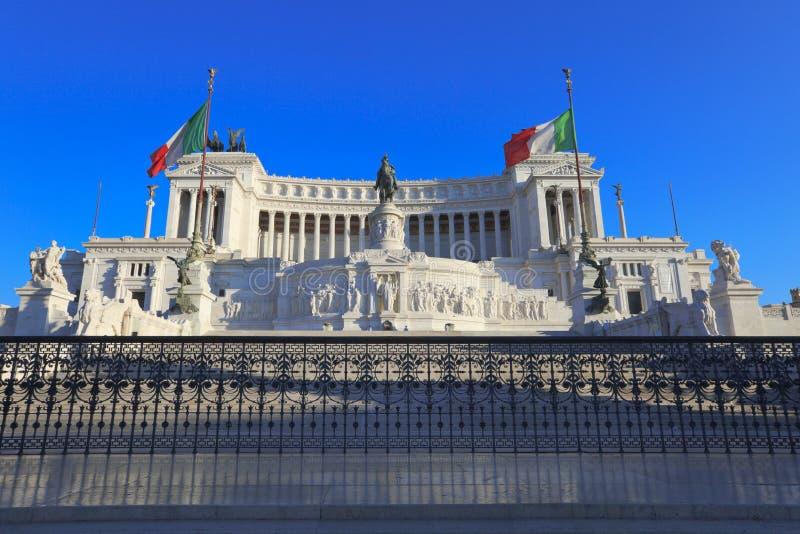 Monumento del vincitore Emmanuel II, Roma, Italia. immagine stock