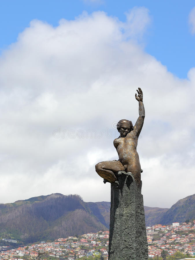 Monumento dell'autonomia del Madera a Funchal fotografia stock libera da diritti